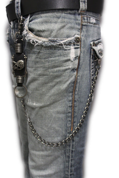 Antique Silver Metal Wallet Chain KeyChain Leather Skull Bone Skeleton Jeans Punk Trucker Jeans Metal Clasp New Mem Style - alwaystyle4you - 9