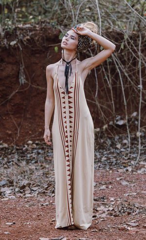 Luna Dress || Camel Print