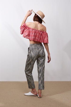 Ox Pants || Black and White Ikat