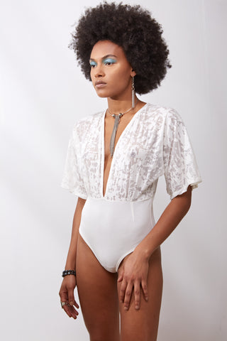 Echo Bodysuit || White