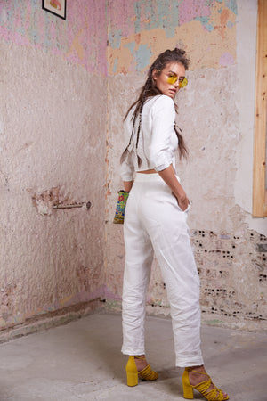 Ox Pants || White Linen