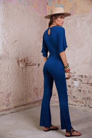 Blue Bird Jumpsuit || Teal