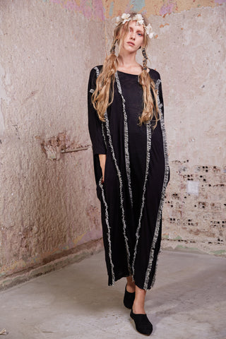 Shiraz Kaftan Dress || Black