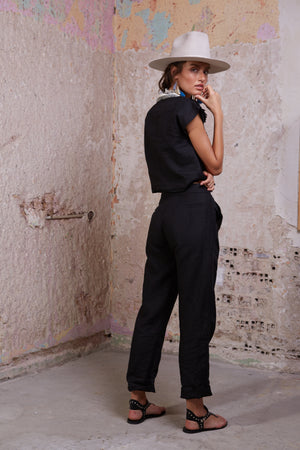 Ox Pants || Black Linen