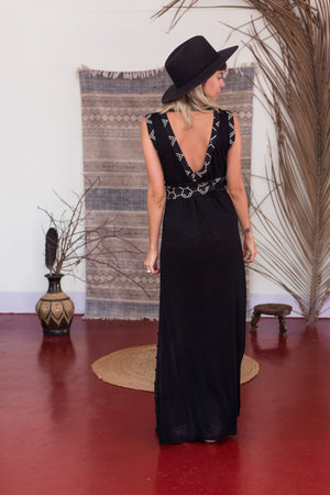 Kaftan Dress || Black