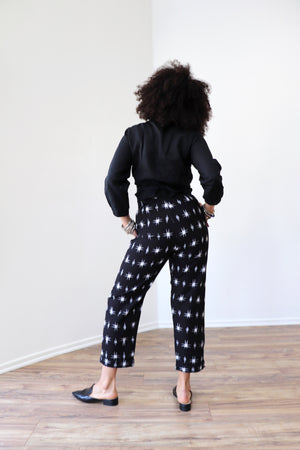 Hazel Pants || Black Ikat