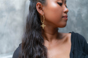 Large Imani Hoop Earrings