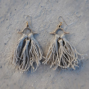 Aya Tassel Earrings || Sand
