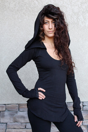 Nienna Hooded Top w/ Sleeves