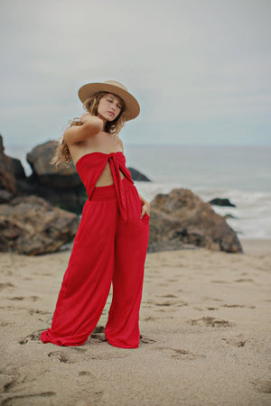Haiku Jumpsuit || Red
