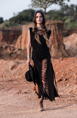 Huya Armour Dress || Black