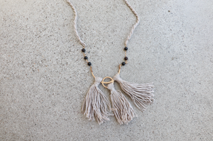 Catori Tassel Necklace || Sand
