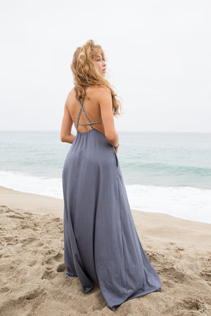 Sun Gazing Dress || Smoked Blue