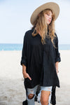 Stevie Shirt || Black Linen