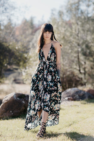 Hayley Dress || Black Floral