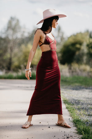 Aries Dress || Maroon