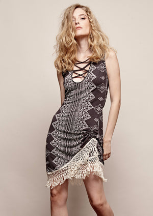 Sweet Water Fringe Dress