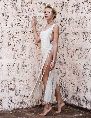 Huya Armour Dress || White