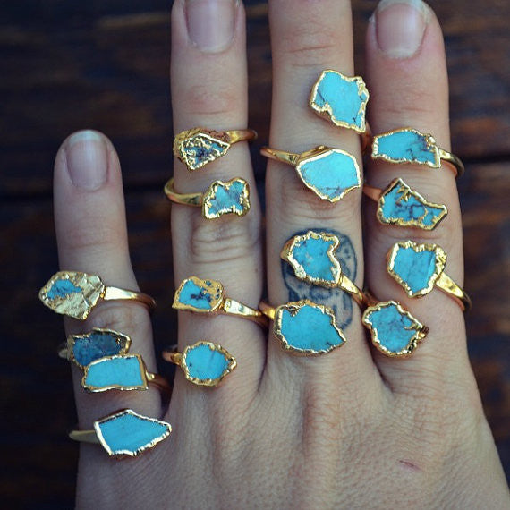Turquoise Stackable Wrap Ring