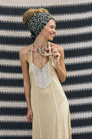 Yawa Dress || Beige