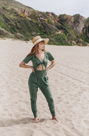 Jaya Jumpsuit || Fern Green