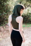 Nagini Hooded Crop Top || Wrap