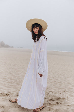 Shiraz Kaftan Dress || White