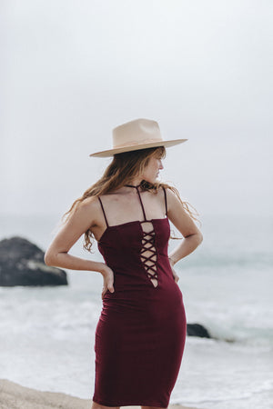 Scorpio Dress || Maroon