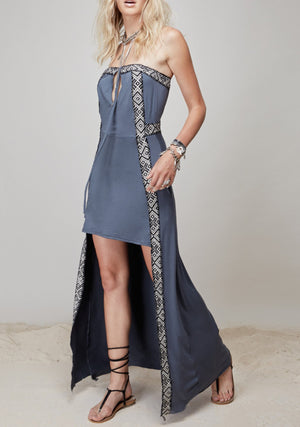 Shivani Dress || Smoked Blue