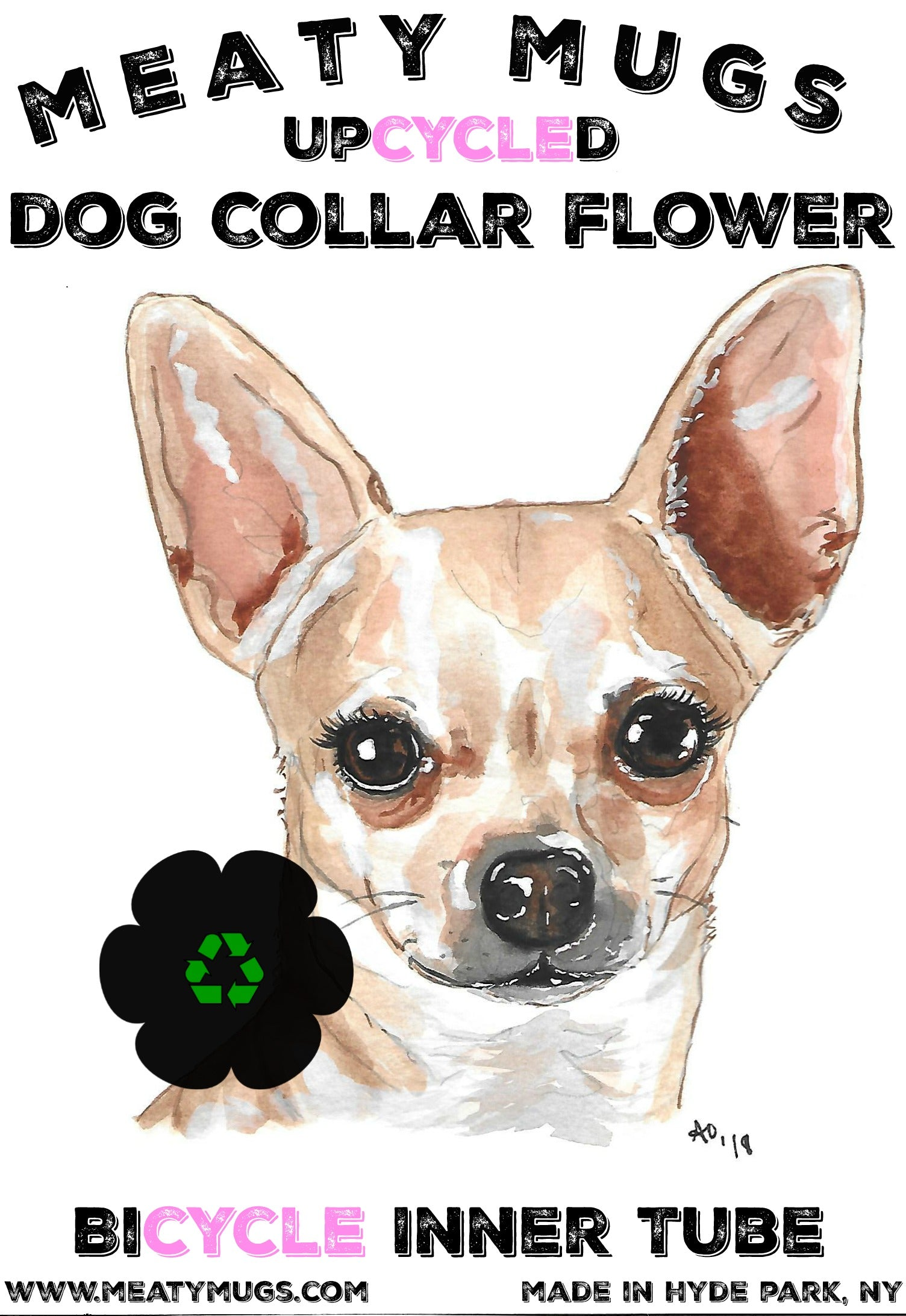 Upcycled Dog Collar Flower