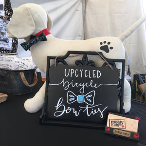 Upcycled Dog Bow Tie