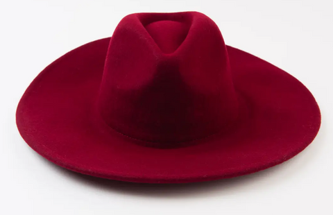 LC WINE WOOL FEDORA