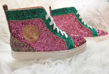 Gem Shoe Canvas Pink/Green