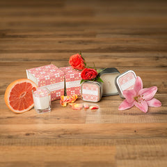 Soy Lotion Candle by Creative Energy - Hannah Lily Rose & Grapefruit