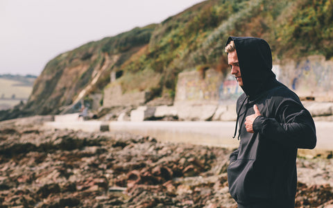 Lifestyle shoot for Dunning Apparel on location in Falmouth, Cornwall