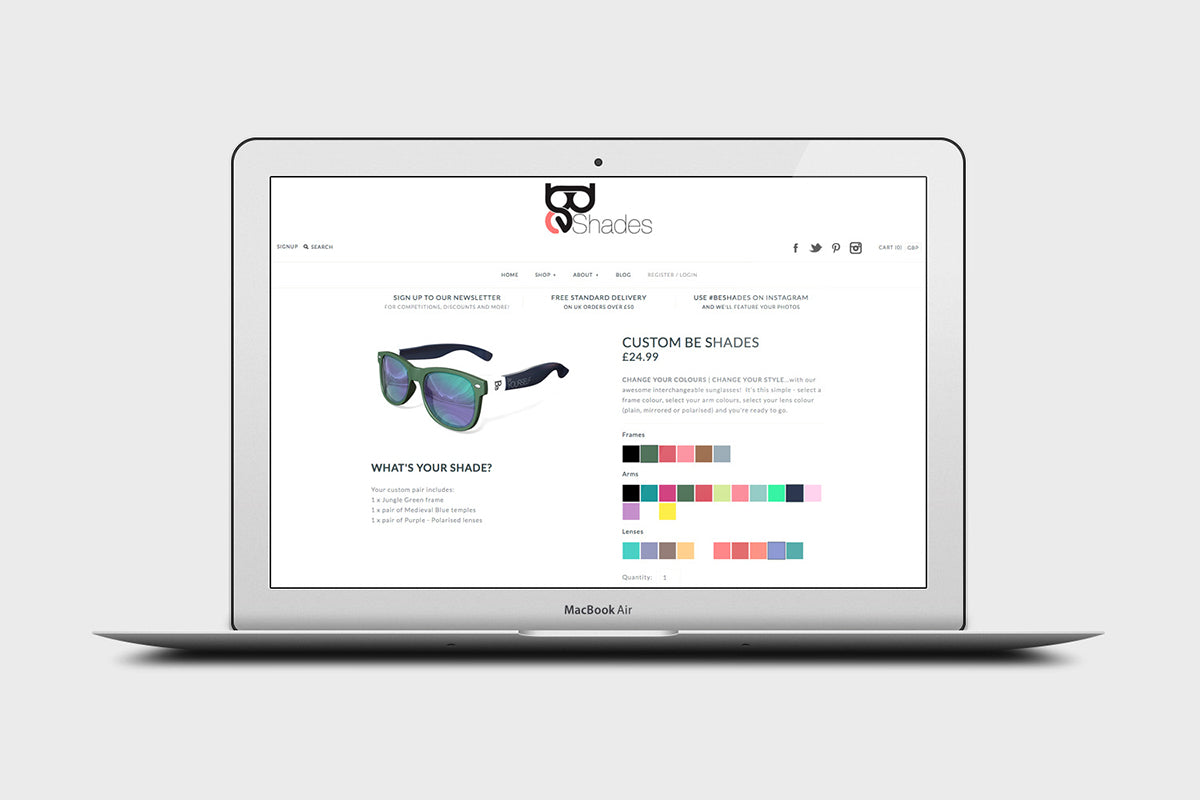 Be Shades Website Design