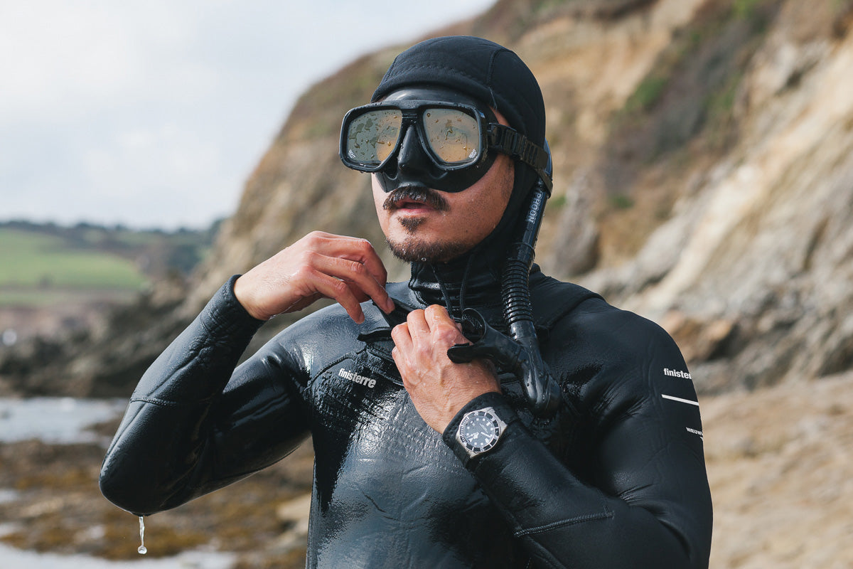 Ernest Capbert wears Tudor watch diving