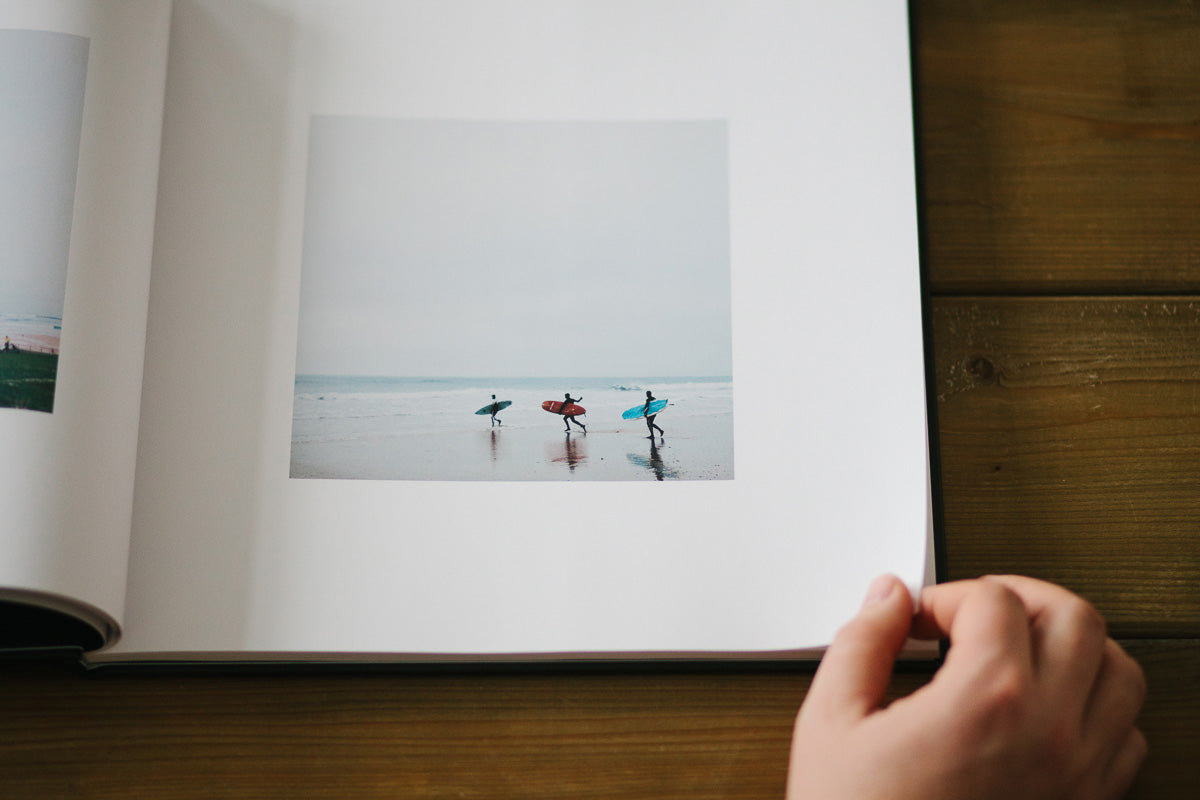 Surfers in the Mackie Studio Open Spaces Book