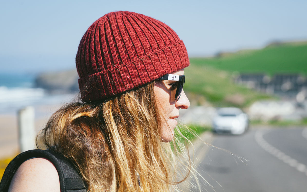 Girl wearing Be Shades Sunglasses and a Beanie
