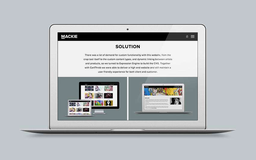 Mackie Studio new work page UI layout