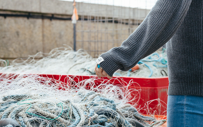 Newquay Fishing Nets | Karl Mackie Photographer | Old Harry Knitwear | Newquay, Cornwall