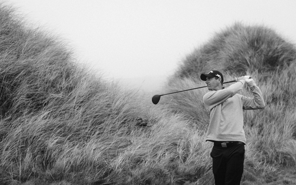 Nicolas Colsaerts swinging in the dunes