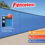 Blue 4'x50' Fence Screen 90% visibility blockage (aluminum grommets) FREE SHIPPING
