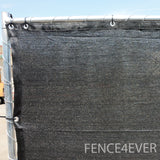 Black 8'x50' Fence Screen 90% visibility blockage (aluminum grommets) FREE SHIPPING / FREE ZIP TIES