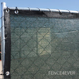 Dark Green Olive 8'x25' Fence Screen 90% visibility blockage (aluminum grommets) FREE SHIPPING / FREE ZIP TIES