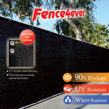 Black 5'x50' Fence Screen 90% visibility blockage (aluminum grommets) FREE SHIPPING / FREE ZIP TIES