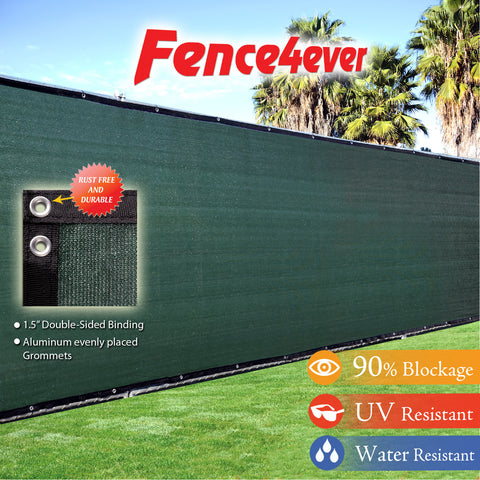 Dark Green Olive 5'x50' Fence Screen 90% visibility blockage (aluminum grommets) FREE SHIPPING / FREE ZIP TIES