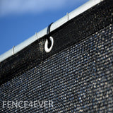 Black 8'x25' Fence Screen 90% visibility blockage (aluminum grommets) FREE SHIPPING FREE SHIPPING / FREE ZIP TIES