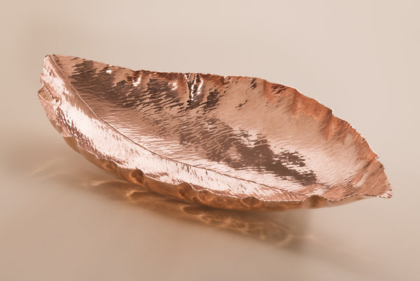 Copper Magnolia Leaf Bowl