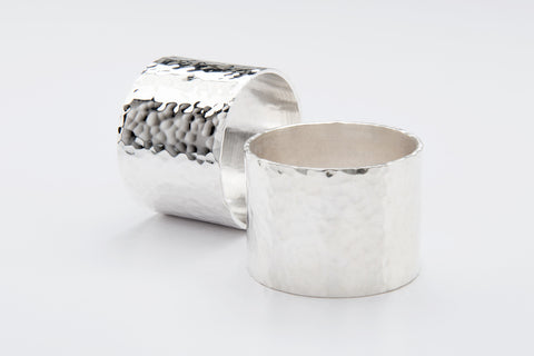 Silver Planished Napkin Ring